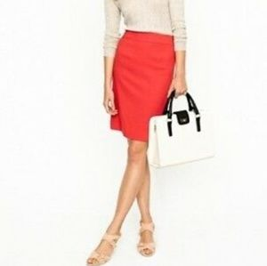 J Crew 120's wool No. 2 Pencil Skirt pale Punch